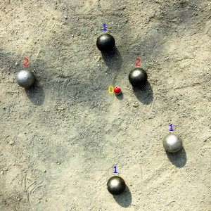 Pétanque_Spielsituation_1